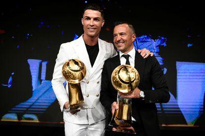 Cristiano Ronaldo y Jorge Mendes, en Dubái, el pasado mes de diciembre.