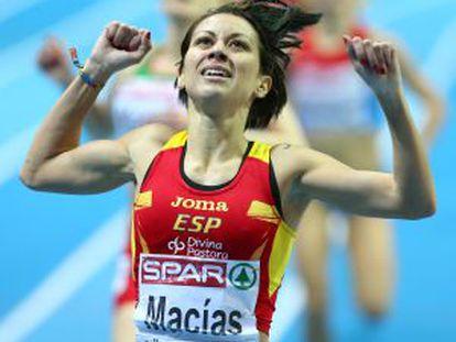 Isabel Macias, durante los Mundiales de Gotemburgo.