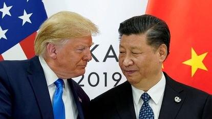 Donald Trump junto a Xi Jinping, en Osaka (Japón), en 2019.