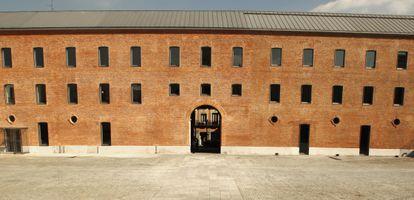 Patio del Centro Cultural Conde Duque de Madrid.