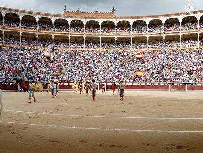 Paseíllo en la plaza de Las Ventas.