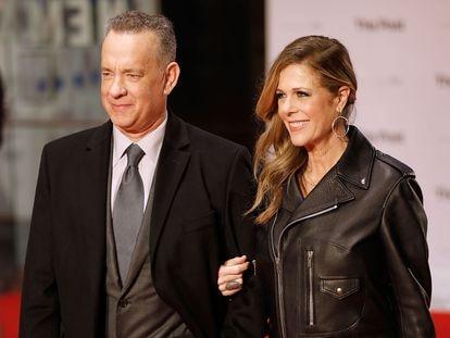 Tom Hanks y Rita Wilson, en un estreno en Londres en enero de 2018.