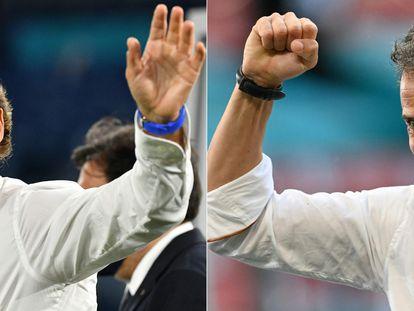 Roberto Mancini y Luis Enrique, los seleccionadores de Italia y España.