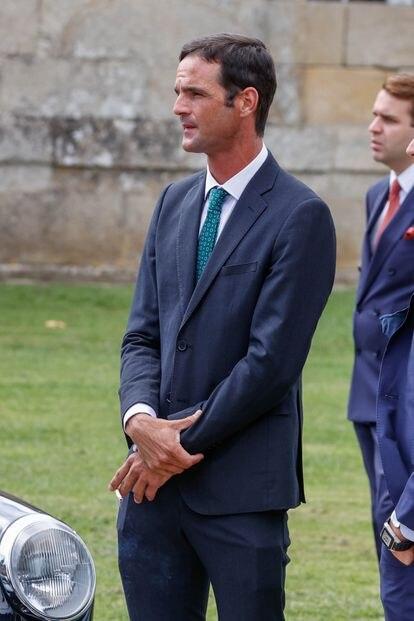 José Bono, hijo, a su llegada al evento.