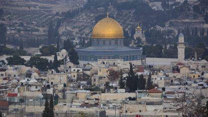 Una vista de la ciudad vieja de Jerusalén