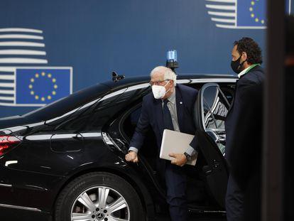 Josep Borrell, a su llegada a la cumbre europea de Bruselas el pasado viernes.