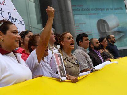 Una manifestación de la oposición venezolana en Caracas, la semana pasada.
