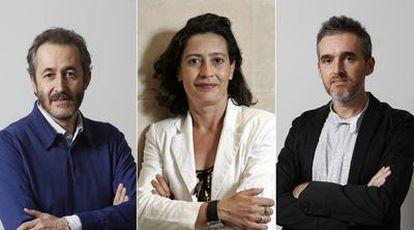 Gumersindo Lafuente, Lydia Aguirre y Borja Echevarría.