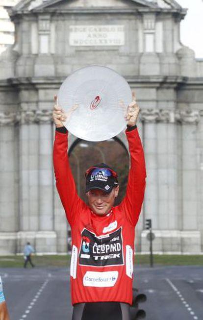 Horner, en el podio de Madrid.