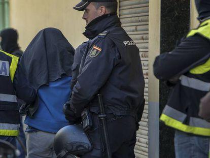 Detención el pasado noviembre de un presunto yihadista en Sagunto (Valencia).