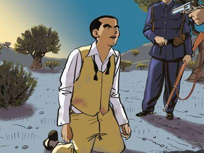 Portada del cómic de Ian Gibson y Quique Palomo sobre Lorca.