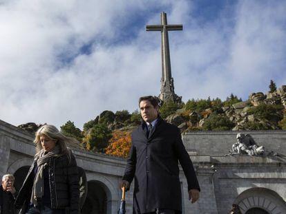 Luis Alfonso de Borbón, en el Valle de los Caídos el 20 de noviembre de 2018.