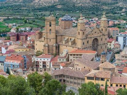 Vista panorámica de Alcañiz desde el castillo de los Calatravos.