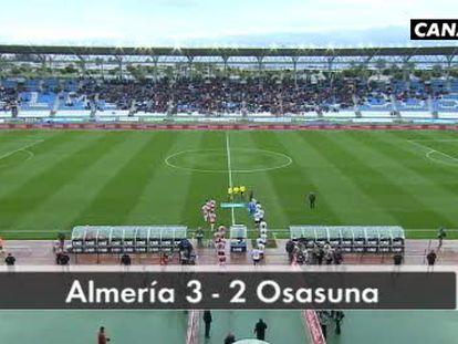 Almería 3 - Osasuna 2