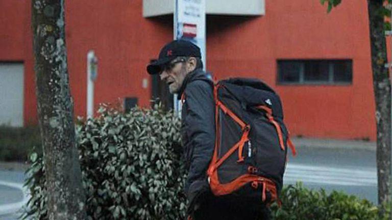 Josu Ternera, momentos antes de su detención en los Alpes franceses, el 16 de mayo de 2019.