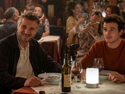 'Una villa en la Toscana': El duelo de postal de Liam Neeson y su hijo