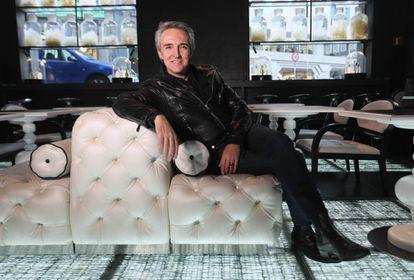 El cantante Ramoncín en el Hotel Urban.