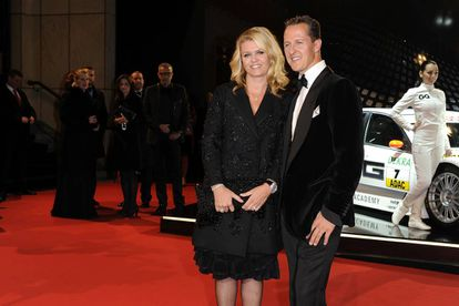 Michael Schumacher y su esposa Corinna en Berlín en octubre de 2010.