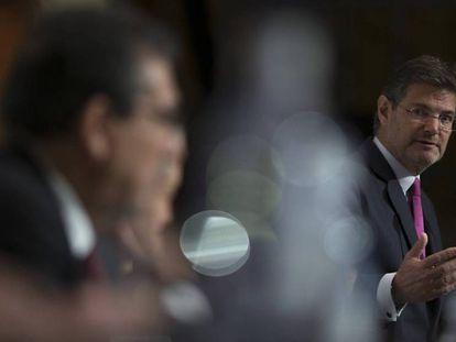 El ministro de Justicia, Rafael Catalá, este jueves en Sevilla.