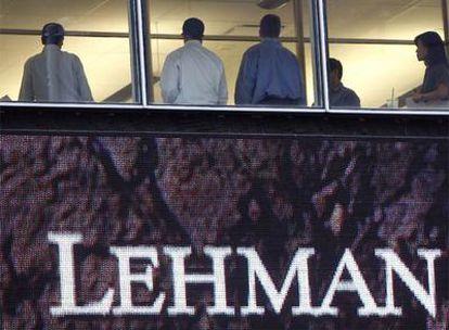 Sede neoyorquina de Lehman Brothers el 16 de septiembre de 2008, un día después de la quiebra.