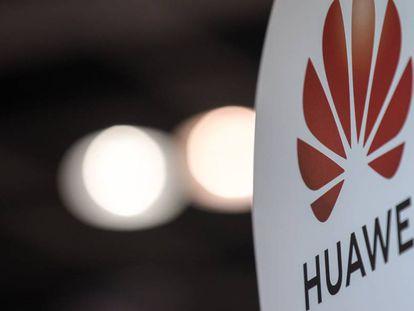 Una cartel de Huawei.