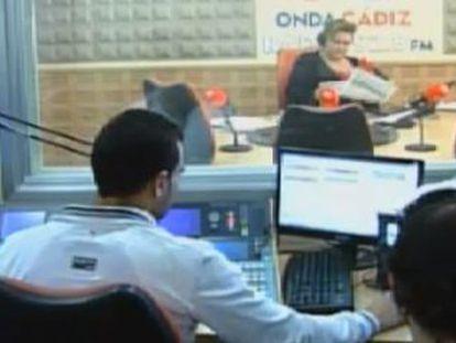 Imagen de pantalla de Onda Cádiz durante una retransmisión en directo.