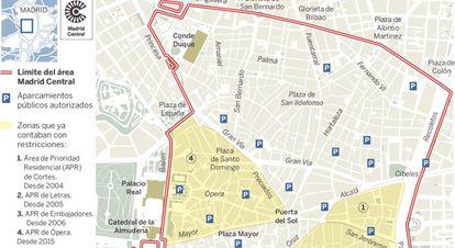 Pulsa para ampliar y ver el plano de Madrid Central.