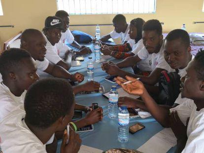 Una reunión del grupo de ciberactivistas.