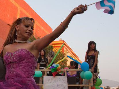 Marcha del orgullo gay en Querétaro, en el 2011.