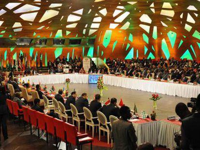 Reunión de los países de la Cedeao en Abiyán.