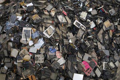 Desechos de móviles