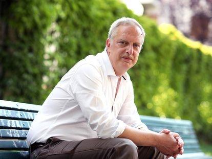 Antonio Scurati, el pasado 25 de abril, en Milán.