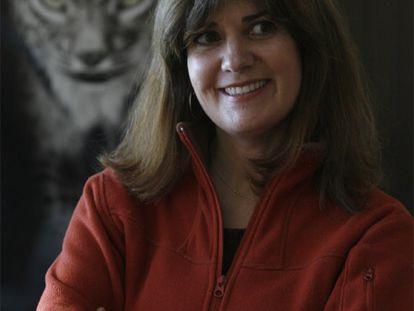 Astrid Vargas, en el centro de cría en cautividad del lince.
