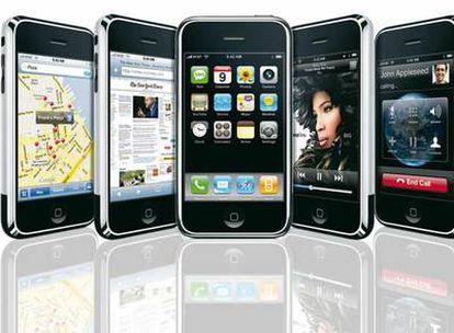 Una muestra de iPhone, el nuevo teléfono móvil de Apple.