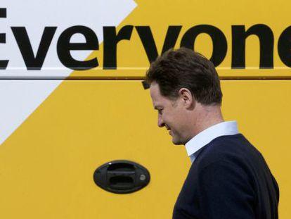 El liberal-demócrata Nick Clegg, este miércoles.