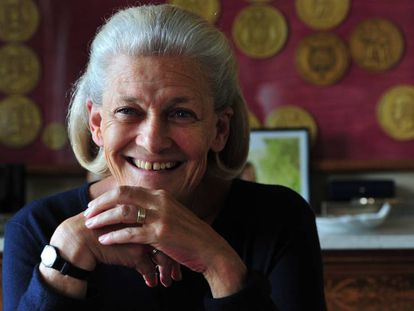 Elisabeth Badinter, en su domicilio de París en junio de 2015.