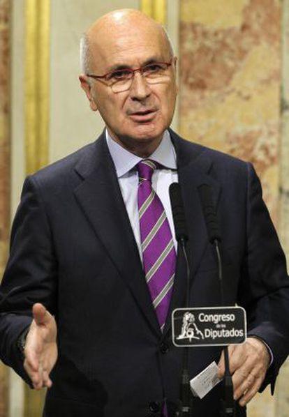 Duran Lleida, durante su primera reacción tras el discurso inicial de Rajoy.