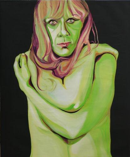 Autoretrato de la artista Martha Peluffo, en la exposición 'Terapia' del Museo de Arte Moderno de Buenos Aires.