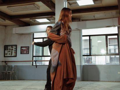 Los bailaores Patricia Guerrero y José Maya, en el proyecto cinematográfico de Lemaire y A Flamenco Catharsis, en la escuela Amor De Dios de Madrid.