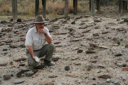 Rick Pots, en los yacimientos de Olorgesailie