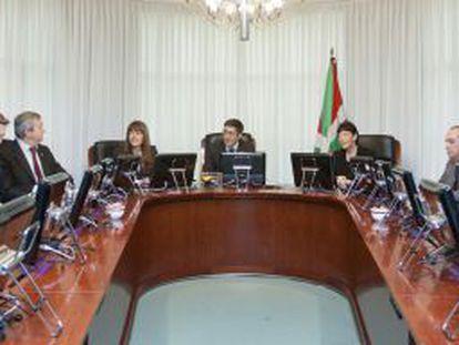 Última reunión del Consejo de Gobierno encabezado por Patxi López, celebrada el pasado día 11.