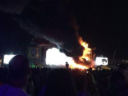 Unas 20.000 personas asistían al concierto en Can Zam, donde no se han producido heridos