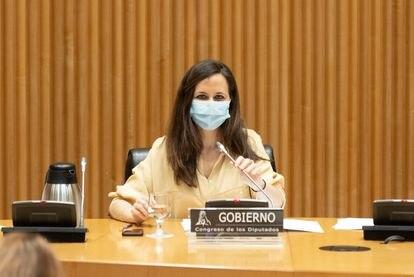 Ione Belarra, este miércoles durante su comparecencia en la comisión de Derechos Sociales del Congreso.