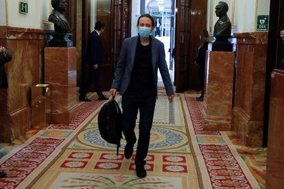 El vicepresidente Pablo Iglesias en el Congreso el pasado miércoles.