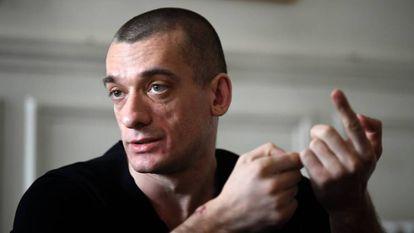 Piotr Pavlenski, este sábado en París.