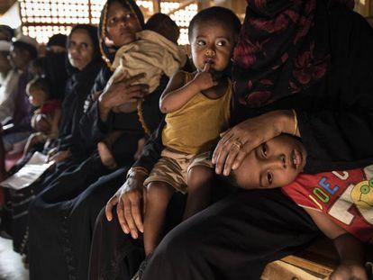 Refugiados rohingya en Bangladés.