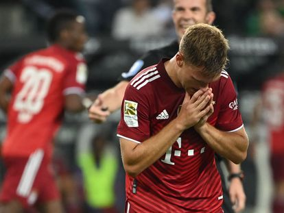 Kimmich después del partido ante el Borussia Monchengladbach este viernes.