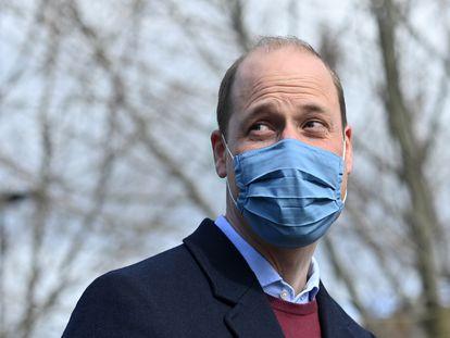El príncipe Guillermo de Inglaterra, el 11 de marzo de 2021, en Londres.