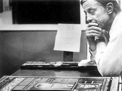 Ben Bradlee, director de 'The Washington Post' y responsable de la investigación del 'caso Watergate', que acabaría forzando la dimisión del presidente Richard Nixon.