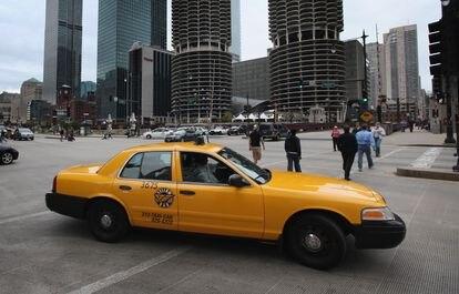 Una típica escena de los taxis en Chicago.